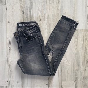 Cotton On The Ripped Skinny 7/8 Jeans black